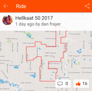 Dan Frayer's HellKaat 50 Route