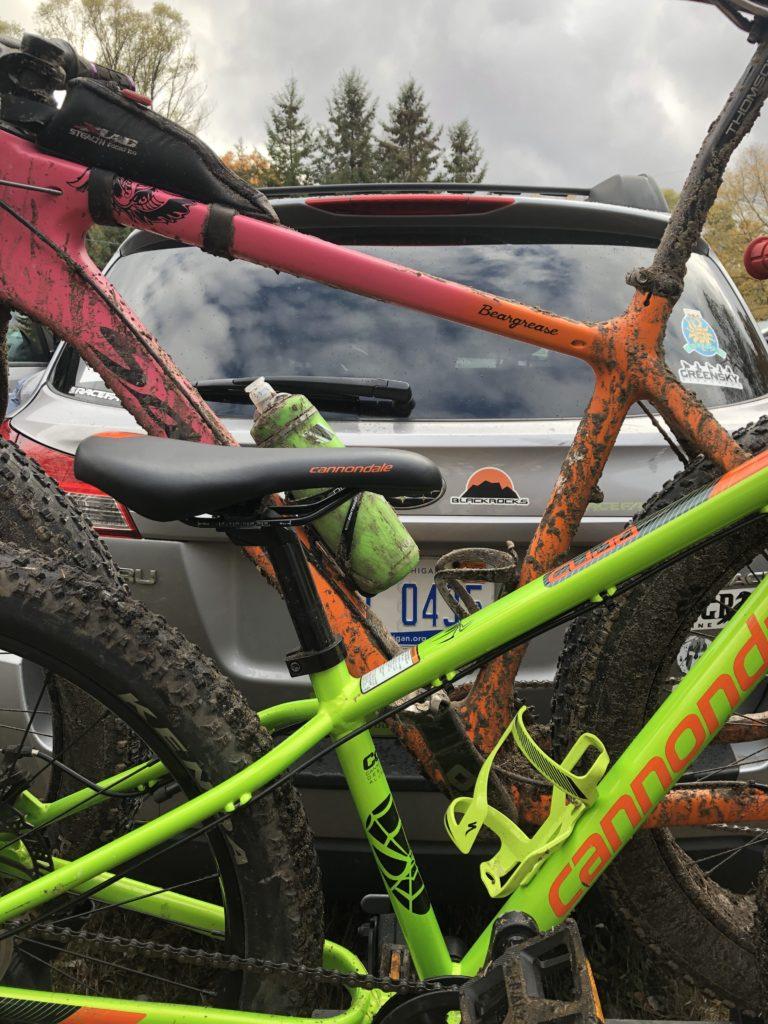 Bikes on their way to Iceman 2019